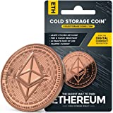 Copper Plated Cold Storage Ethereum Coin Wallet to Store & Redeem Bitcoins, Use Laser Technique to Deeply Etch Wallet ID & Pr