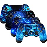 SubClap 4 Packs PS4 Controller Skin, Vinyl Decal Sticker Cover for Sony PlayStation 4 DualShock 4 Wireless Controller (Shing
