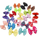 PET SHOW Dog Hair Bows with Alligator Clips Bowknot Hair Clips Cat Puppy Yorkshire Grooming Hair Accessories Assorted Pack of