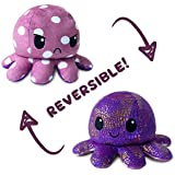 The Original Reversible Octopus Plushie | TeeTurtle's Patented Design | Polka Dot and Shimmer | Show Your Mood Without Saying