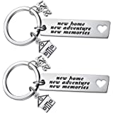 2020 New Home New Adventures New Memories Keychain Housewarming Gift for New Homeowners New House Keyring Moving in Together