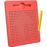 Toynspring マグタブ お絵かきボード マグネットボード 子供お絵かき キッズ製図板 マグネティック スケッチパッド磁気製図板 おえかきボード 女の子 男の子 プレゼント 入園のお祝い-赤