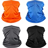 4 Pieces Face Bandana Summer UV Protection Bandana Neck Gaiter Dust Wind Scarf Motorcycle Face Cover for Men Women