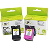 VineonTec Remanufactured Ink Cartridges Replacement for HP 61XL 61 XL to use with Envy 4500 5530 5534 4630 4632 Deskjet 1000