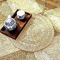 Li Hua Cat 茶室 座布団 シーグラス 丸型 水草 天然素材 畳茶 (約径40×厚み3.5センチ)