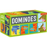 Mudpuppy Dinosaur Dominoes – Giant Dominoes Set for Kids, Matching Game for Ages 3-8, 2+ Players – Includes 28 Jumbo Double-S