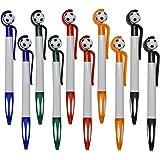 Maydahui かわいい サッカーボール ボールペン 油性ボールペン 0.5mm 黒インク 10本セット サッカーボールペン おしゃれ おもしろ 文房具 可愛い 筆記用 手帳用ボールペン ファッションボールペン クリエイティブボールペン 子供 学生