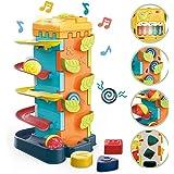 GILOBABY 多機能 赤ちゃん おもちゃ ピアノ 楽器おもちゃ 知育玩具 音と光 モグラ叩き 指先訓練 聴覚発達 色認知 動物認知 図形認知 男の子 おもちゃ 女の子 誕生日 プレゼント クリスマス ギフト 出産祝い 入園祝い 幼稚園 教具