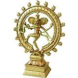 Hindu Dancing Shiva Nataraja Statue - Indian Lord God Siva Natraj Idol Puja Sculpture - India Cosmic Dancer God for Home Temp