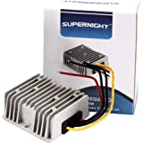 SUPERNIGHT DC/DC Waterproof Converter Regulator 48V Step Down to 12V 10A 120W for Golf Cart Power Module and Club Car