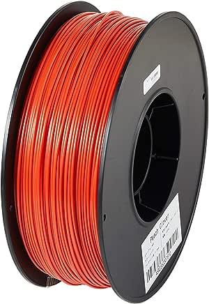 3Dプリンター用 フィラメント マテリアル ABS樹脂 材料 1kg 熱積層方式 FDM3Dプリンター対応 1.75mm径!8色選択可!スプール寸法: 幅200mm、穴径55mm、厚み70mm (レッド)