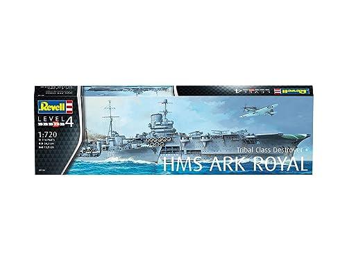 ドイツレベル 1/720 イギリス海軍 HMS アークロイヤル & トライバル級駆逐艦 プラモデル 05149