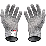 niceluke 軍手 防刃 手袋 作業用 切れない 耐切創 ワークマン DIY 手袋 防災用品 安全防護 グレー L