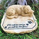 JHP 犬 墓石 ペット お墓 犬 置物 ユニックなデザイン ペット仏具 ペット記念品 メモリアル グッズ 記念石 樹脂製