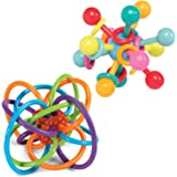 Manhattan Toy 324030 Winkel Rattle and Atom Teether Baby Set, Toy
