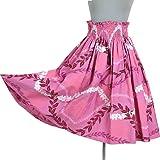 フラダンス パウスカート ハワイアン シングル ピンク 綿100% 日本製