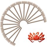 16Pcs Wooden Crab or Lobster Mallets, Nature Hardwood