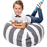 5 STARS UNITED Stuffed Animal Storage - Cover Only - 90+ Plush Toys Holder and Organizer for Boys and Girls Cotton Canvas