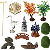 Zen Garden Accessories Tools Kits - Miniatures Sandbox Mini Rake Stamp Decorations Office Tabletop Sand Garden Rocks Plants F
