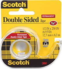 Scotch MMM136 Double Sided Tape Refill Dispenser, 1/2 X 250 Inch
