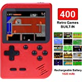 TAPDRA Handheld Game Console, Retro Game Console with 400 Classic Games 3.0 inch Screen Portable Game Console, Good Present f