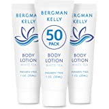 BERGMAN KELLY Bulk Lotion, Hotel Lotion for Body and Hands (1.0 oz, 50 Pack), Delight Your Guests Everyday; Guest Lotion Bulk