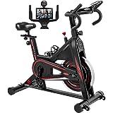 DMASUN Exercise Bike, Indoor Cycling Bike Stationary, Comfortable Seat Cushion, Multi - Grips Handlebar, 42Lbs Flywheel Upgra