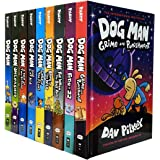 Dog Man Series 9 Books Collection Set (Dog Man, Unleashed, A Tale of Two Kitties, Dog Man and Cat Kid, Lord of the Fleas, Bra
