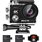 Dragon Touch 4K Action Camera 16MP Vision 3 Underwater Waterproof Camera PC Webcam 170° Wide Angle WiFi Sports Cam with Remot