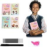 4pcs Sank Magic Practice Copybook for Kids - The Print Handwiriting Workbook-Reusable Writing Practice Book (Book with Pen) (