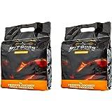 Pitboss Premium BBQ Coconut Shell Charcoal 4kg 2pack