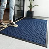 Entryway Non Slip Door Mat Profile Inside Outside Welcome Mat Natural Rubber Heavy Duty Backing Polyester Front Doormat Resis