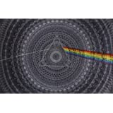 Sunshine Joy 3D Pink Floyd Mini Tapestry The Dark Side of the Moon Black Shadows Wall Art 30x45 Inches