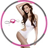 NEOWEEK Hula Hoops for Adults-Weighted Hula Hoop for Exercise-2lb, Detachable Design- Professional Fitness Hula Hoop