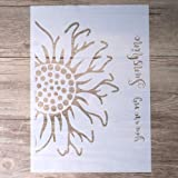 DIY Decorative Sunflower Stencil Template for Painting on Walls Furniture Crafts (A4 Size)