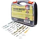 AKORD Anchors Assortment Kit, Hollow-Wall and Solid-Wall Anchors with Screws Set, Double-Sided Storage Case, 306 Pieces