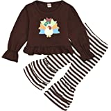 Sunuoyi Toddler Kids Baby Girls Long Sleeve Loose Crop Top + Leopard Flare Pants Outfit Fall Winter Clothes