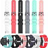 E ECSEM Compatible with Polar Unite Bands Replacement Accessory Sport Colourful Silicone Bracelet 6Pack Strap Arm Band for Po