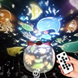 リモコン・タイマー式 スタープロジェクターライト 15/30/60分タイマー 8曲の音楽 8種類の投影映画フィルム 360度回転 SYOSIN 星空ライト ベッドサイドランプ USB充電式 クリスマス飾り スターナイトライト タイマー プロジェクター