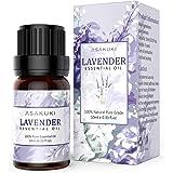 ASAKUKI Lavender Essential Oil 10ml, 100% Pure Natural Essential Oils, Organic Aromatherapy Essential Oil, Scented Oils for D