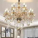 LED E14 LED 3 Brightness Cognac Color Crystal Candle Chandelier Chandelier Lights Lights Chandeliers with 10 5W E14 LED Bulbs