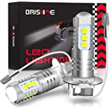 BRISHINE H3 LED Fog Light Bulbs 6000K Xenon White, Extremely Bright 3030 Chips H1 LED Bulbs with Projector for Car Fog Lights