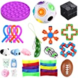 bopel 30 Pcs Sensory Fidget Toys Set, Stress Relief and Anti-Anxiety Tools Bundle Toys Assortment,Stocking Stuffers for Kids