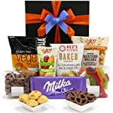 Snack Lover Gift Hamper with Vege Crackers, Choc Pretzels, White Choc Bites, Nut Mix and Snakes