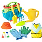 Gonioa Kids Gardening Tools, All in One Garden Toys Set Including Watering Can, Children Gardening Gloves, Shovel, Rake, Fork