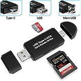 Card Reader, Splaks 3 in 1 SD Card Reader Micro OTG USB Card Reader USB C Card Reader Micro SD for SDXC, SDHC, SD, MMC, RS-MM