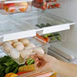 Yeeko Fridge Drawer Organizer, Refrigerator Organizer Bins, Pull Out with Handle, Fridge Shelf Holder Storage Box, Clear Cont