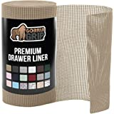 """Gorilla Grip Original Drawer Shelf Liner, Non-Adhesive, Size (12"""" x 20'), Durable Strong Drawers, Shelves, Cabinets, Storage,"""