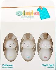 Nightlight Rabbit Trio Set, White