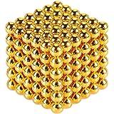 YOIKO マグネットボール 立体パズル 直径5mm 216個セット 教育工具 DIY工具 脳開発おもちゃ(金色)